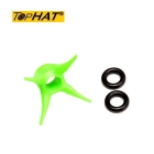 TopHat - Arrow Stopper 6er Pack 6,6 - 8,0 mm orange