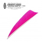 Trueflight Feathers - 3 Shield RW fl. pink